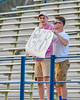 Baldwinsville Bees supporters of Ryan Gebhardt (20) in the stands at the Bragman Stadium in Cicero, New York on Thursday, May 12, 2016.