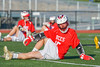 Baldwinsville Bees Michael Bourdon (15) warms up before playing the Fayetteville-Manlius Hornets in a Section III Boys Lacrosse game at the Fayetteville-Manlius High School in Manlius, New York on Wednesday, May 18, 2016.