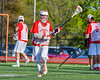 Baldwinsville Bees Joe Glamos (28)  warms up before playing the Fayetteville-Manlius Hornets in a Section III Boys Lacrosse game at the Fayetteville-Manlius High School in Manlius, New York on Wednesday, May 18, 2016.