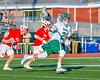 Fayetteville-Manlius Hornets Owen Penoyer (21) wtih the ball against the Baldwinsville Bees in Section III Boys Lacrosse action at the Fayetteville-Manlius High School in Manlius, New York on Wednesday, May 18, 2016.  Fayetteville-Manlius won 9-8.