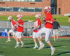 Baldwinsville Bees warm up before playing the Fayetteville-Manlius Hornets in a Section III Boys Lacrosse game at the Fayetteville-Manlius High School in Manlius, New York on Wednesday, May 18, 2016.