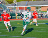 Fayetteville-Manlius Hornets Owen Penoyer (21) passes the ball against the Baldwinsville Bees in Section III Boys Lacrosse action at the Fayetteville-Manlius High School in Manlius, New York on Wednesday, May 18, 2016.  Fayetteville-Manlius won 9-8.