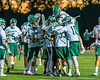 Fayetteville-Manlius Hornets celebrate their win over the Baldwinsville Bees in Section III Boys Lacrosse action at the Fayetteville-Manlius High School in Manlius, New York on Wednesday, May 18, 2016.  Fayetteville-Manlius won 9-8.