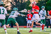 Baldwinsville Bees Matt Dickman (23) shoots and scores against the Fayetteville-Manlius Hornets in Section III Boys Lacrosse action at the Fayetteville-Manlius High School in Manlius, New York on Wednesday, May 18, 2016.  Fayetteville-Manlius won 9-8.