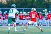 Baldwinsville Bees Dillon Darcangelo (10) winds up for a shot at the Fayetteville-Manlius Hornets net in Section III Boys Lacrosse action at the Fayetteville-Manlius High School in Manlius, New York on Wednesday, May 18, 2016.  Fayetteville-Manlius won 9-8.