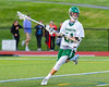 Fayetteville-Manlius Hornets Owen Penoyer (21) looking to make a play against the Baldwinsville Bees in Section III Boys Lacrosse action at the Fayetteville-Manlius High School in Manlius, New York on Wednesday, May 18, 2016.  Fayetteville-Manlius won 9-8.