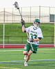Fayetteville-Manlius Hornets Greg Zogby (33) with the ball against the Baldwinsville Bees in Section III Boys Lacrosse action at the Fayetteville-Manlius High School in Manlius, New York on Wednesday, May 18, 2016.  Fayetteville-Manlius won 9-8.