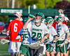 Fayetteville-Manlius Hornets goalei Ryan Boshart (28) heads to his net before playing the Baldwinsville Bees in a Section III Boys Lacrosse game at the Fayetteville-Manlius High School in Manlius, New York on Wednesday, May 18, 2016.