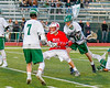 Baldwinsville Bees Ryan Gebhardt (20) winds up for a scoring shot agianst the Fayetteville-Manlius Hornets in Section III Boys Lacrosse action at the Fayetteville-Manlius High School in Manlius, New York on Wednesday, May 18, 2016.  Fayetteville-Manlius won 9-8.