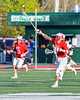 Baldwinsville Bees Peter Fiorni III (13) reaches for a pass against the Fayetteville-Manlius Hornets in Section III Boys Lacrosse action at the Fayetteville-Manlius High School in Manlius, New York on Wednesday, May 18, 2016.  Fayetteville-Manlius won 9-8.