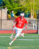 Baldwinsville Bees Peter Fiorni III (13) with the ball against the Fayetteville-Manlius Hornets in Section III Boys Lacrosse action at the Fayetteville-Manlius High School in Manlius, New York on Wednesday, May 18, 2016.  Fayetteville-Manlius won 9-8.