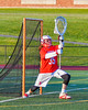 Baldwinsville Bees goalie Riley Smith (35) makes a save against the Fayetteville-Manlius Hornets in Section III Boys Lacrosse action at the Fayetteville-Manlius High School in Manlius, New York on Wednesday, May 18, 2016.  Fayetteville-Manlius won 9-8.