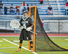 Syracuse Cougars goalie oendri Alonso (5) in net against the Baldwinsville Bees in Section III Boys Lacrosse Semi-Finals action at the Bragman Stadium in Cicero, New York on Thursday, May 26, 2016.  Baldwinsville won 16-5.