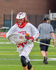 Baldwinsville Bees goalie Riley Smith (35) heads to his net before playing the Syracuse Cougars in Section III Boys Lacrosse Semi-Finals action at the Bragman Stadium in Cicero, New York on Thursday, May 26, 2016.