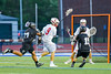 Baldwinsville Bees Josh Stanton (9) with the ball against the Syracuse Cougars in Section III Boys Lacrosse Semi-Finals action at the Bragman Stadium in Cicero, New York on Thursday, May 26, 2016.  Baldwinsville won 16-5.