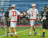 Baldwinsville Bees Charlie Bertrand (6) gets congratulated for his goal agianst the Syracuse Cougars in Section III Boys Lacrosse Semi-Finals action at the Bragman Stadium in Cicero, New York on Thursday, May 26, 2016.  Baldwinsville won 16-5.