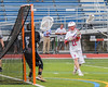 Baldwinsville Bees Connor Smith (26) shoots and scores on Syracuse Cougars goalie Yoendri Alonsoo (5) in Section III Boys Lacrosse Semi-Finals action at the Bragman Stadium in Cicero, New York on Thursday, May 26, 2016.  Baldwinsville won 16-5.
