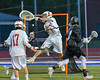 Syracuse Cougars Keison Cannon (2) shoots and scores on the Baldwinsville Bees in Section III Boys Lacrosse Semi-Finals action at the Bragman Stadium in Cicero, New York on Thursday, May 26, 2016.  Baldwinsville won 16-5.