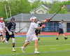 Baldwinsville Bees John Petrelli (33) receives a pass against the Syracuse Cougars in Section III Boys Lacrosse Semi-Finals action at the Bragman Stadium in Cicero, New York on Thursday, May 26, 2016.  Baldwinsville won 16-5.