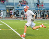 Baldwinsville Bees Ben Dwyer (5) with the ball against  the Syracuse Cougars in Section III Boys Lacrosse Semi-Finals action at the Bragman Stadium in Cicero, New York on Thursday, May 26, 2016.  Baldwinsville won 16-5.