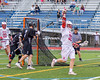 Baldwinsville Bees Connor Smith (26) celebrates his goal agiant the Syracuse Cougars in Section III Boys Lacrosse Semi-Finals action at the Bragman Stadium in Cicero, New York on Thursday, May 26, 2016.  Baldwinsville won 16-5.