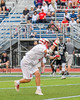 Baldwinsville Bees Patrick Delpha (11) fires in a goal agianst the Syracuse Cougars in Section III Boys Lacrosse Semi-Finals action at the Bragman Stadium in Cicero, New York on Thursday, May 26, 2016.  Baldwinsville won 16-5.
