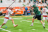 Fayetteville-Manlius Hornets Donovan Welsh (4) shoots and scores the game winning goal against the Baldwinsville Bees in Section III Boys Lacrosse Championship action at the Carrier Dome in Syracuse, New York on Saturday, May 28, 2016.  Fayetteville-Manlius won 8-7.