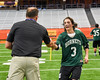 Fayetteville-Manlius Hornets Nick Papa (3) receives his award after winning the Section III Class A Boys Lacrosse Championship game at the Carrier Dome in Syracuse, New York on Saturday, May 28, 2016.