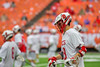 Baldwinsville Bees Peter Fiorni III (13) warms up before playing the Fayetteville-Manlius Hornets in the Section III Class A Boys Lacrosse Championship game at the Carrier Dome in Syracuse, New York on Saturday, May 28, 2016.