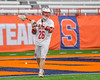 Baldwinsville Bees Connor Smith (26) looking to make a play against the Fayetteville-Manlius Hornets in Section III Boys Lacrosse Championship action at the Carrier Dome in Syracuse, New York on Saturday, May 28, 2016.  Fayetteville-Manlius won 8-7.