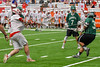Baldwinsville Bees Charlie Bertrand (6) fires the ball at the Fayetteville-Manlius Hornets net in Section III Boys Lacrosse Championship action at the Carrier Dome in Syracuse, New York on Saturday, May 28, 2016.  Fayetteville-Manlius won 8-7.