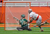 Baldwinsville Bees Charlie Bertrand (6) scores a goal past Fayetteville-Manlius Hornets goalie Ryan Boshart (28) in Section III Boys Lacrosse Championship action at the Carrier Dome in Syracuse, New York on Saturday, May 28, 2016.  Fayetteville-Manlius won 8-7.
