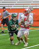 Baldwinsville Bees Ryan ingerson (3) with the ball against the Fayetteville-Manlius Hornets in Section III Boys Lacrosse Championship action at the Carrier Dome in Syracuse, New York on Saturday, May 28, 2016.  Fayetteville-Manlius won 8-7.