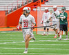 Baldwinsville Bees John Petrelli (33) with the ball against the Fayetteville-Manlius Hornets in Section III Boys Lacrosse Championship action at the Carrier Dome in Syracuse, New York on Saturday, May 28, 2016.  Fayetteville-Manlius won 8-7.