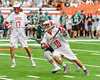 Baldwinsville Bees Dillon Darcangelo (10) starts his scoring run past a Fayetteville-Manlius Hornets defender in Section III Boys Lacrosse Championship action at the Carrier Dome in Syracuse, New York on Saturday, May 28, 2016.  Fayetteville-Manlius won 8-7.