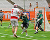 Baldwinsville Bees Charlie Bertrand (6) shoots the ball past Fayetteville-Manlius Hornets defenders for a goal in Section III Boys Lacrosse Championship action at the Carrier Dome in Syracuse, New York on Saturday, May 28, 2016.  Fayetteville-Manlius won 8-7.