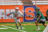 Baldwinsville Bees Ryan Gebhardt (20) with the ball against the Fayetteville-Manlius Hornets in Section III Boys Lacrosse Championship action at the Carrier Dome in Syracuse, New York on Saturday, May 28, 2016.  Fayetteville-Manlius won 8-7.