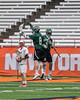 Fayetteville-Manlius Hornets Mac Fish (6) and Ryan Cicci (8) celebrate a goal against the Baldwinsville Bees in Section III Boys Lacrosse Championship action at the Carrier Dome in Syracuse, New York on Saturday, May 28, 2016.  Fayetteville-Manlius won 8-7.