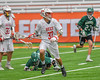 Baldwinsville Bees Cole Peters (37) with the ball against Fayetteville-Manlius Hornets in Section III Boys Lacrosse Championship action at the Carrier Dome in Syracuse, New York on Saturday, May 28, 2016.  Fayetteville-Manlius won 8-7.