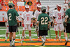 Baldwinsville Bees Patrick Delpha (11) in the starting lineup against the Fayetteville-Manlius Hornets in the Section III Class A Boys Lacrosse Championship Game at the Carrier Dome in Syracuse, New York on Saturday, May 28, 2016.