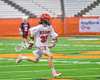 Jamesville-Dewitt Red Rams Anthony Digiovanni (37) runnign with the ball against the Auburn Maroons in Section III Boys Class B Lacrosse Championship action at the Carrier Dome in Syracuse, New York on Saturday, May 28, 2016.  Jamesville-Dewitt won 15-7.