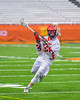 Jamesville-Dewitt Red Rams Anthony Digiovanni (37) with the ball against the Auburn Maroons in Section III Boys Class B Lacrosse Championship action at the Carrier Dome in Syracuse, New York on Saturday, May 28, 2016.  Jamesville-Dewitt won 15-7.