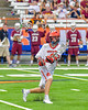 Jamesville-Dewitt Red Rams Ryan Archer (9) passing the ball against the Auburn Maroons in Section III Boys Class B Lacrosse Championship action at the Carrier Dome in Syracuse, New York on Saturday, May 28, 2016.  Jamesville-Dewitt won 15-7.