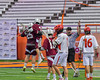 Auburn Maroons celebrating a goal against the Jamesville-Dewitt Red Rams in Section III Boys Class B Lacrosse Championship action at the Carrier Dome in Syracuse, New York on Saturday, May 28, 2016.  Jamesville-Dewitt won 15-7.