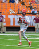 Jamesville-Dewitt Red Rams Jack Mulvihill (29) with the ball against the Auburn Maroons in Section III Boys Class B Lacrosse Championship action at the Carrier Dome in Syracuse, New York on Saturday, May 28, 2016.  Jamesville-Dewitt won 15-7.