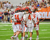 Jamesville-Dewitt Red Rams celebrate a goal against the Auburn Maroons in Section III Boys Class B Lacrosse Championship action at the Carrier Dome in Syracuse, New York on Saturday, May 28, 2016.  Jamesville-Dewitt won 15-7.