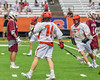 Jamesville-Dewitt Red Rams Grayson Burns (14) celebrates his goal against the Auburn Maroons in Section III Boys Class B Lacrosse Championship action at the Carrier Dome in Syracuse, New York on Saturday, May 28, 2016.  Jamesville-Dewitt won 15-7.