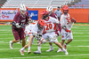 Auburn Maroons played the Jamesville-Dewitt Red Rams Anthony Digiovanni (37) in Section III Boys Class B Lacrosse Championship action at the Carrier Dome in Syracuse, New York on Saturday, May 28, 2016.  Jamesville-Dewitt won 15-7.