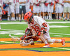 Jamesville-Dewitt Red Rams Jack Mulvihill (29) wins a face-off against the Auburn Maroons in Section III Boys Class B Lacrosse Championship action at the Carrier Dome in Syracuse, New York on Saturday, May 28, 2016.  Jamesville-Dewitt won 15-7.