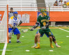LaFayette Lancers Jordyn Marchiano (8) backing down on the Cazenovia Lakers defender in Section III Boys Class C Lacrosse Championship action at the Carrier Dome in Syracuse, New York on Saturday, May 28, 2016.  Cazenovia won 11-9.